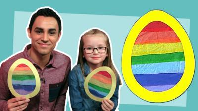 CBeebies House - Make a rainbow suncatcher