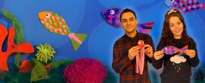 Ben and Evie from CBeebies House want to see your sea creature creations!