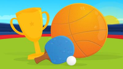 Basketball, table tennis and a trophy
