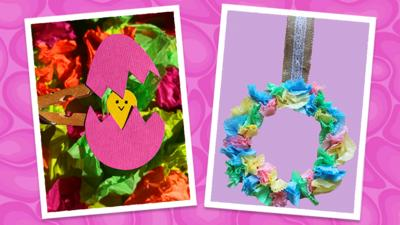 CBeebies House - Spring crafts with Evie