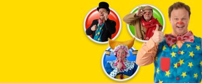 Mr Tumble, Lord Tumble, Grandad Tumble and Aunt Polly
