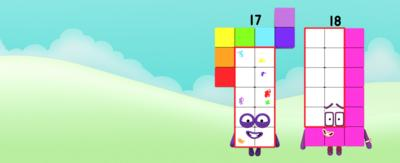 Numberblock 17 and 18