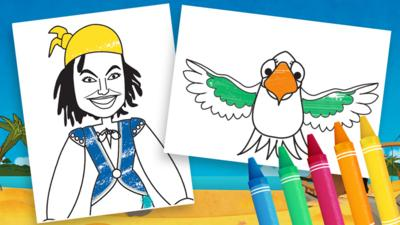 Swashbuckle - Swashbuckle Colouring Sheets