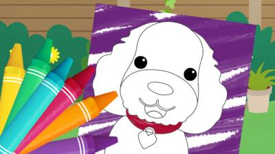 Waffle the Wonder Dog - Waffle the Wonder Dog Colouring Sheets