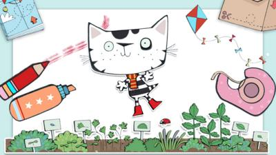 Wussywat The Clumsy Cat - Clumsy Cat Colouring