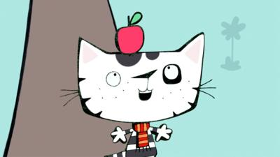 Wussywat The Clumsy Cat - Catching Apples
