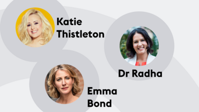 Katie Thistleton, Emma Bond and Dr Radha