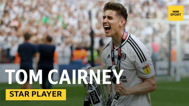 712b7ae96e8 Fulham s captain Tom Cairney celebrating winning the Championship playoff.