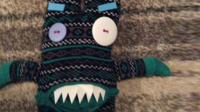 How to make a spooky sock monster - CBBC - BBC