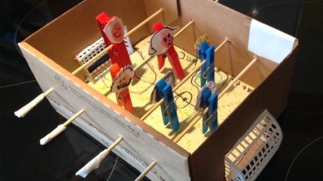 How To Make Your Own Table Football CBBC BBC - Make your own gaming table