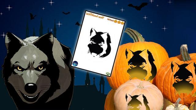 Pumpkin Template - Wolfblood: Wolf - CBBC - BBC