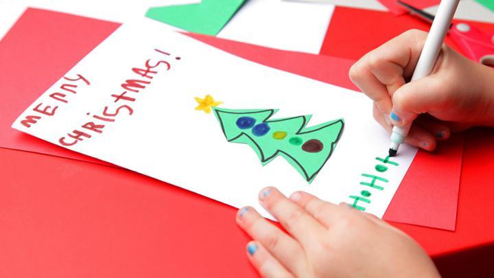 sign blue peter's christmas card  cbbc  bbc