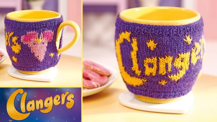 Soup Dragon Knitting Pattern Free : Knit a Clangers mug cosy - CBeebies - BBC