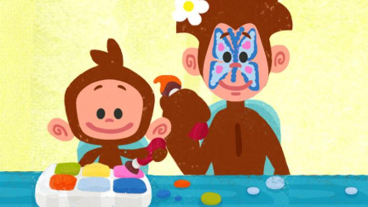 Face painting cbeebies bbc for Painting games com