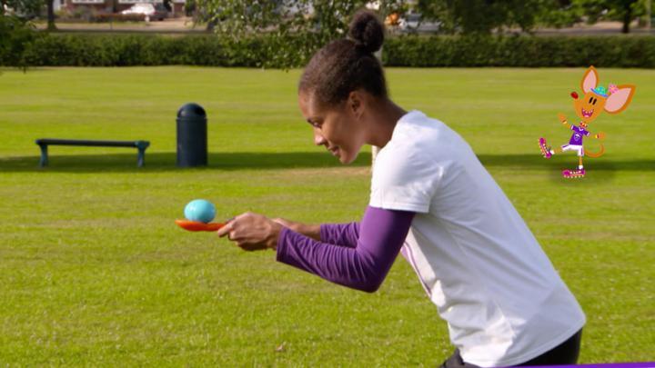 Super Skills: Egg and Spoon Race - CBeebies - BBC