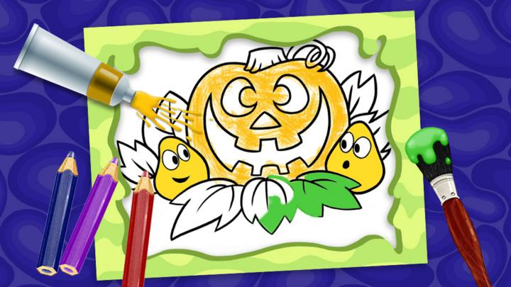 Halloween Make A Picture Cbeebies Bbc