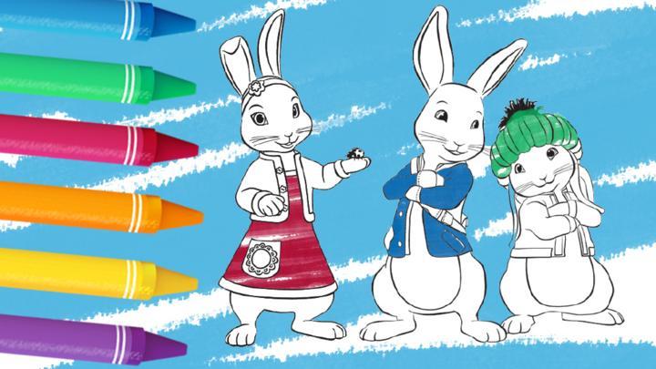 Cbeebies Colouring Sheets Peter Rabbit Cbeebies Bbc