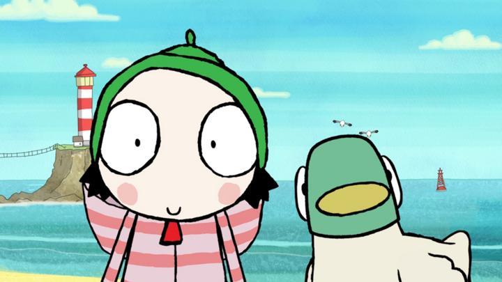 sarah and ducks beach adventure cbeebies bbc