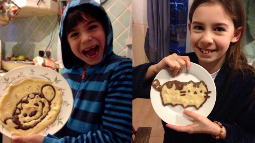 How to make amazing pancake art cbbc bbc gracie 11 and joel 8 ccuart Gallery