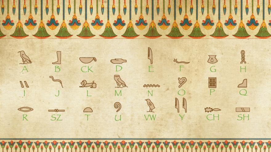 Spell Your Name With Hieroglyphics Cbbc Bbc
