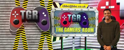CBBC Gamers' Room set with Rhys