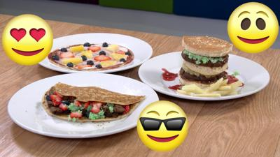 CBBC HQ - Fruity fast food pancake makes