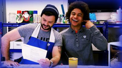 Blue Peter - Funny bake fail with Barney and Radzi