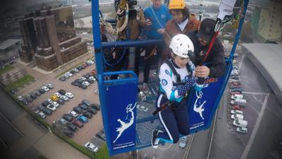 Blue Peter - Zipwire challenge: Behind the scenes