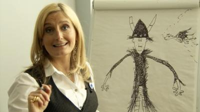 Blue Peter - Cressida Cowell draws Toothless the dragon