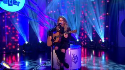 Blue Peter - Daisy Clark 'pops in' on Blue Peter