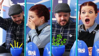 Blue Peter - Presenters vs Eggs