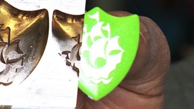 Blue Peter - How to make a Green badge