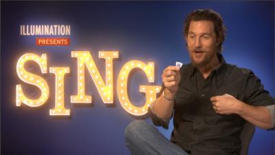 Blue Peter - Matthew McConaughey gets a BP badge!