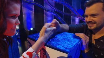 Blue Peter - Linds v Barney EXTREME THUMB WAR!