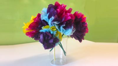 Blue Peter - Make tissue paper flowers