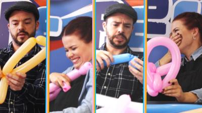 Blue Peter - Presenters vs Balloons