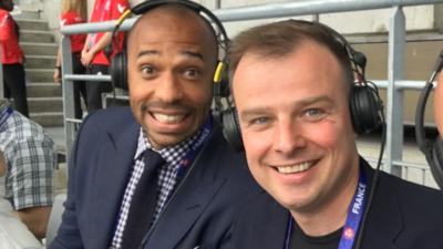 MOTD Kickabout - Commentating with Thierry Henry!