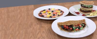 Fast food pancakes.