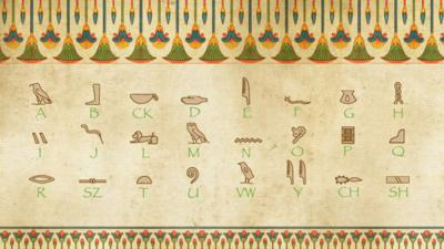 spell your name with hieroglyphics cbbc bbc. Black Bedroom Furniture Sets. Home Design Ideas