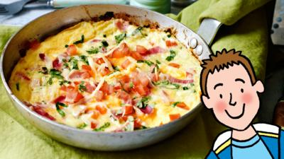 CBBC Dish Up - Johnny's Breakfast Omelette