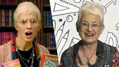 CBBC Book Club - Dame Jacqueline Wilson reacts to... herself?