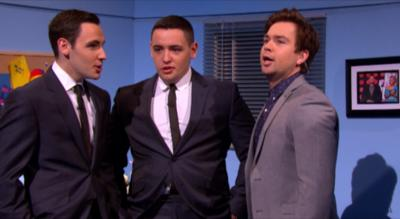 Sam & Mark's Big Friday Wind-Up  - Sketch - Singing with Richard and Adam
