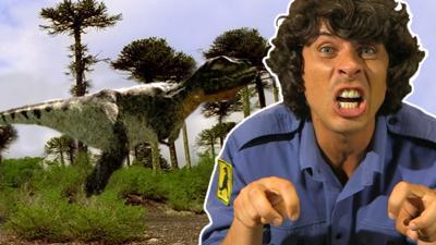 Andy's Secret Hideout - T-rex