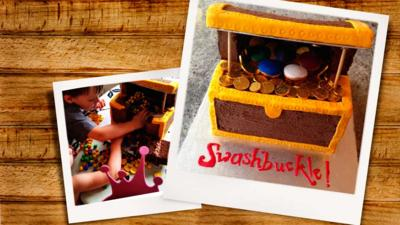 Swashbuckle - Swashbuckle Treasure Chest Piñata Cake