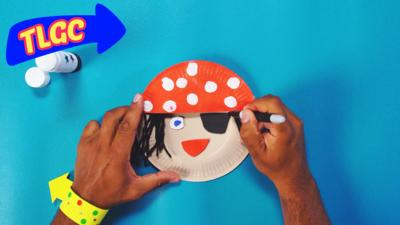 The Let's Go Club - Paper Plate Pirate Puppet