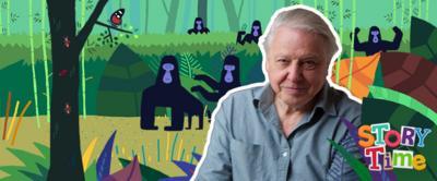 Sir David Attenborough in the jungle.
