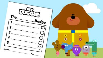 Hey Duggee - Make Your Own Activity Sheet