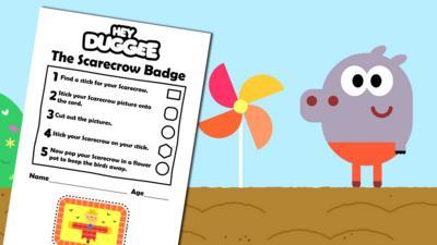 Hey Duggee - The Scarecrow Badge Activity Sheet