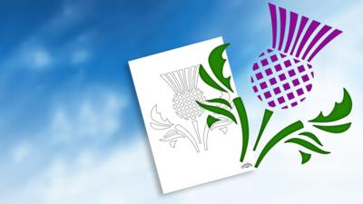 Let's Celebrate - St Andrew's Day Thistle