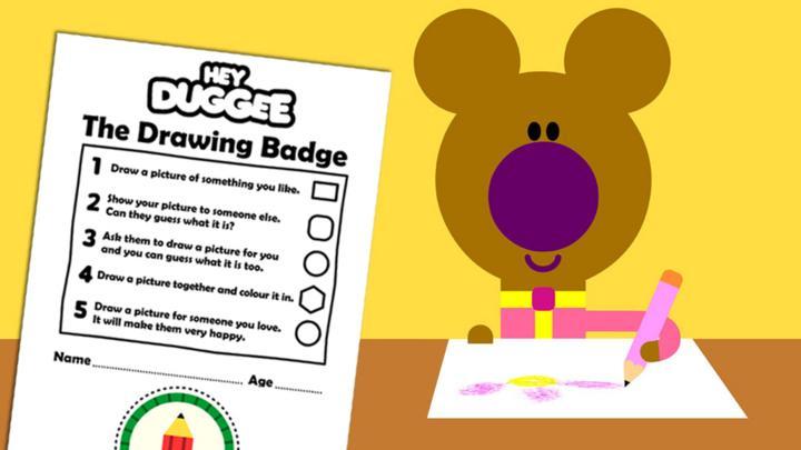 The Drawing Badge Activity Sheet - CBeebies - BBC
